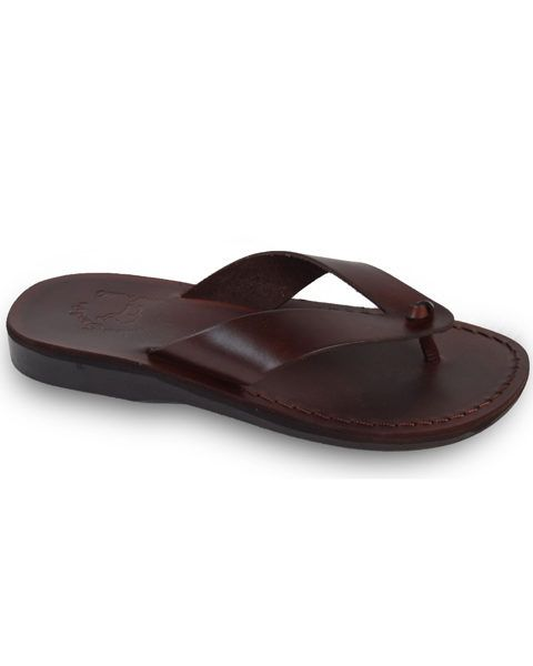 f14c7f4303c0 Solomon - Leather sandals handcrafted in Jerusalem featuring cross straps  and moulded leather footbed  Handcrafted  LeatherBags  JesusSandals ...