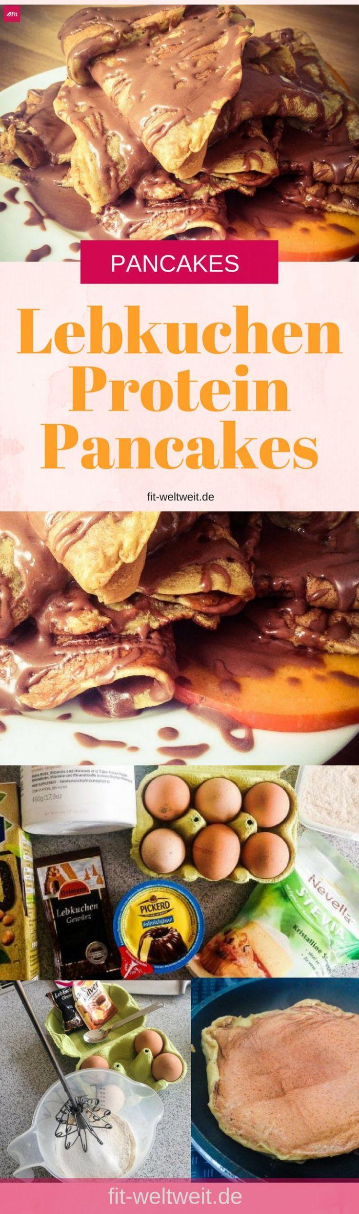 Lebkuchen Protein Pancakes Rezept - Leckeres Rezept für Lebkuchen Protein Pancakes mit Schokoglasur. Das Frühstück ist perfekt für die Weihnachtszeit. Geht super schnell, macht lange satt. Auch als leckere Weihnachtsrezept zum Frühstück toll. Einfaches Lebkuchen Rezepte ohne backen. Deutsches Protein Pancakes Rezept.