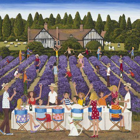 Louise Braithwaite - Naive Artist  Lavender Lunch