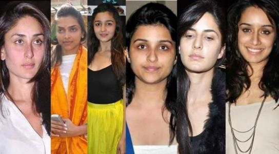 Top Bollywood Actress Without Makeup Looks Gorgeous | The Public Front