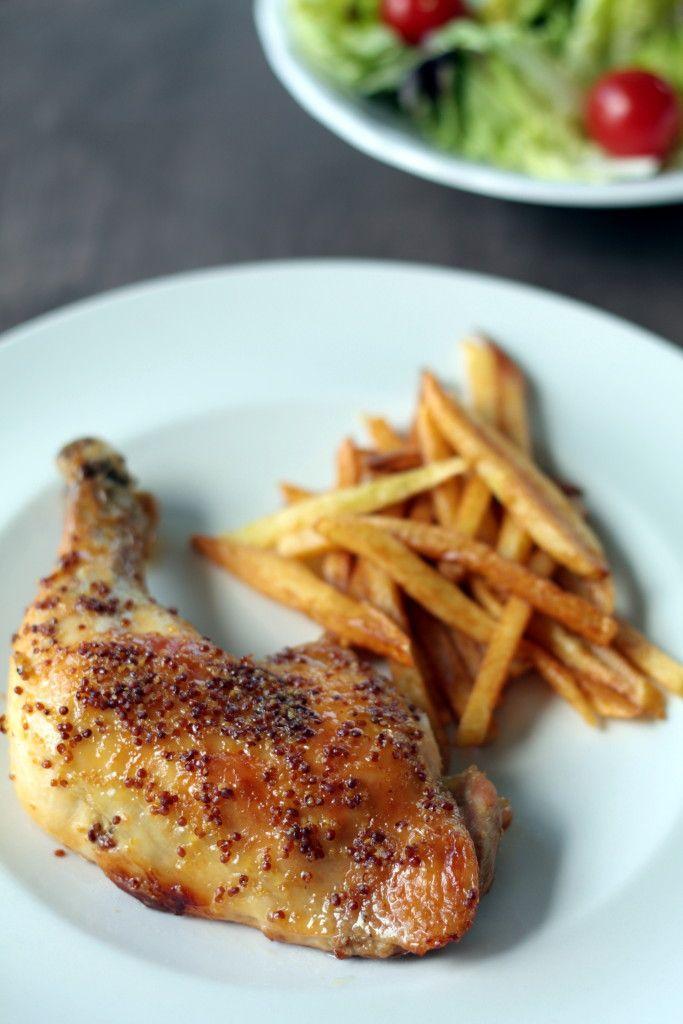 Muslos de pollo con mostaza y miel