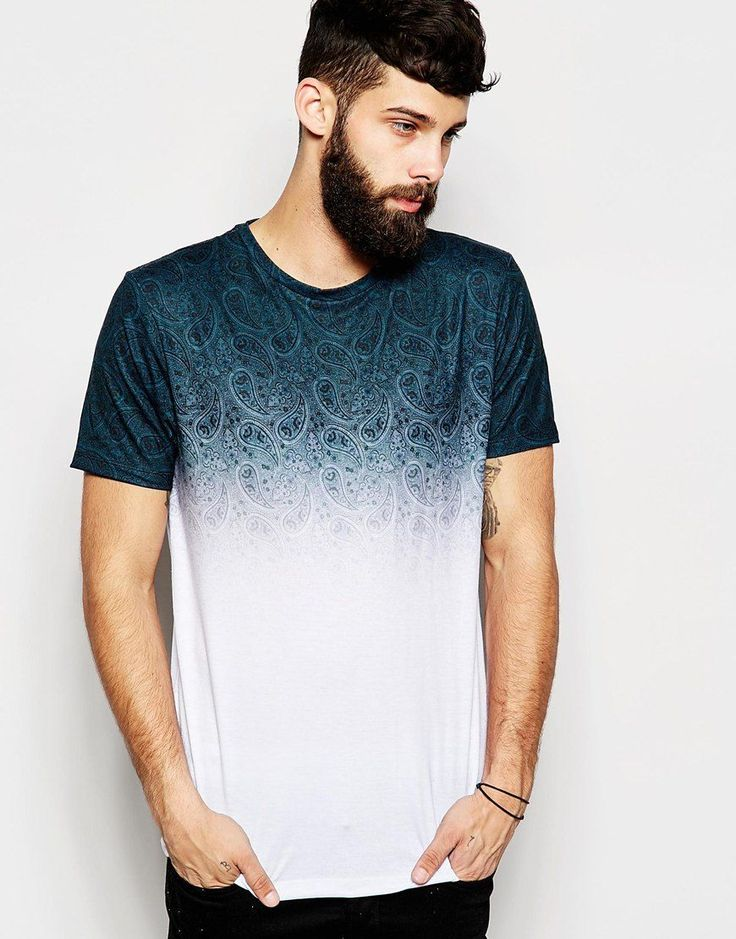 Image 1 of River Island Faded Paisley Print T-Shirt