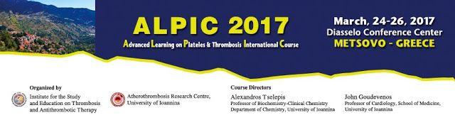 ΒΑΣΙΛΕΙΟΣ ΚΑΡΑΣΑΒΒΙΔΗΣ: ALPIC 2017, Advanced Learning on Platelets & Throm...