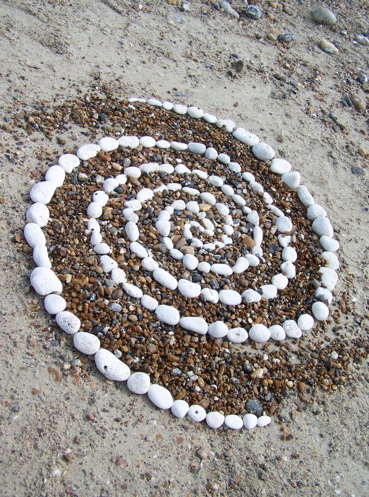 Galaxy pebble spiral worthing beach uk land art by