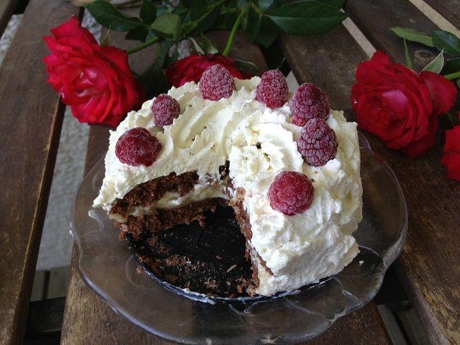 Chokladgräddtårta med vanilj