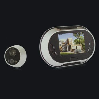 """3.5"""" LCD Screen Digital Door Peephole Viewer Wide Angle. Want it? Own it? Add it to your profile on unioncy.com #tech #gadgets #electronics #gear"""