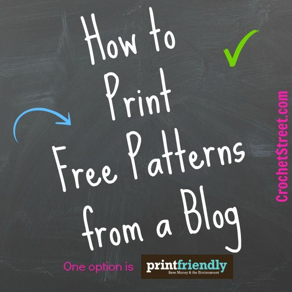 Did you know that you can print out a free pattern from a blog without all the sidebars, buttons, and doodads? It's true! ༺✿ƬⱤღ http://www.pinterest.com/teretegui/✿༻