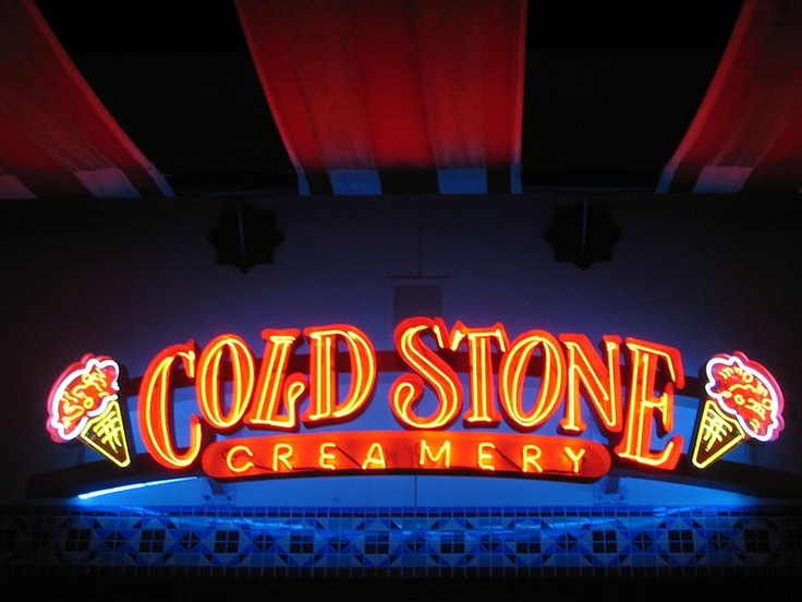 Coldstone Creamery, my favorite ice cream shop