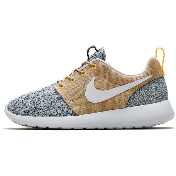 Nike x Liberty Light Blue Anoosha and Lora Liberty Print Roshe Run... (€83) ❤ liked on Polyvore featuring shoes, sneakers, nike, trainers, zapatos, light blue shoes, lightweight shoes, nike footwear, floral pattern shoes and nike sneakers
