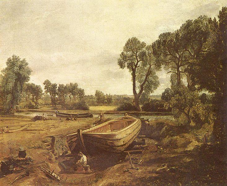 Boat Building near Flatford Mill - John Constable