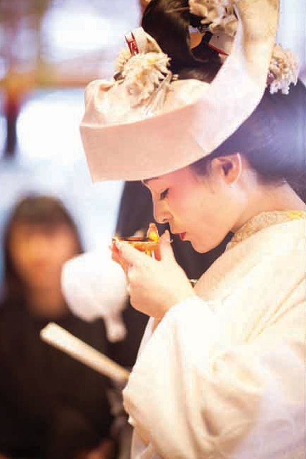 Japanese wedding traditions: Sankon-no-gi