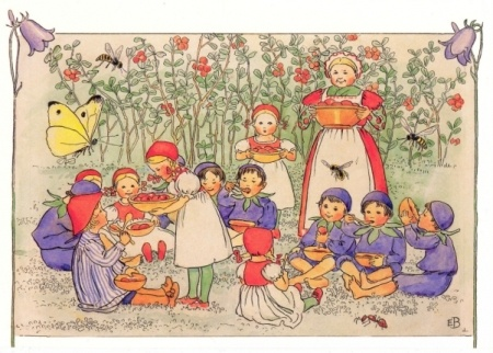 Illustration from Peter in Blueberry Land