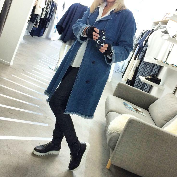Delphine Denim Trench Coat