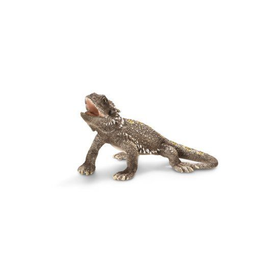 Schleich Pogona Lizard Figure by Schleich. $6.04. Zoological Name: Pogona. 1.6 in L x 2.2 in W x 1.2 in H. Fun Fact: Pogona lizards are true omnivores. They eat anything they can get.. Conservation Status: not endangered. Primary Habitat: forest, Savannah. Pogona lizards are relatively large lizards from Australia. With their many spikes, they look like little dragons. Pogona lizards are medium to large lizards which can reach lengths of up to 60 cm. They look a bit lik...