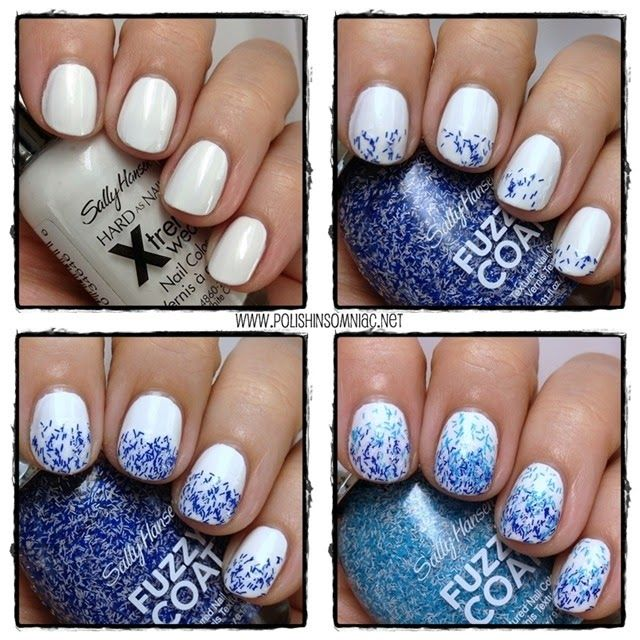 Water Inspired Nail Art with Sally Hansen Fuzzy Coat