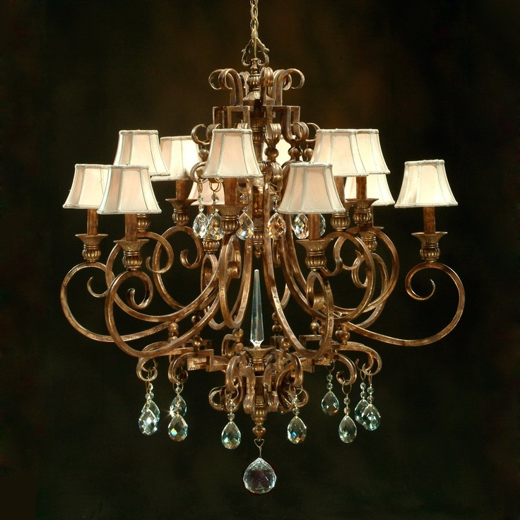 John Richard Ajc 8066 12 Light Maison Dor Chandelier Aged Gold