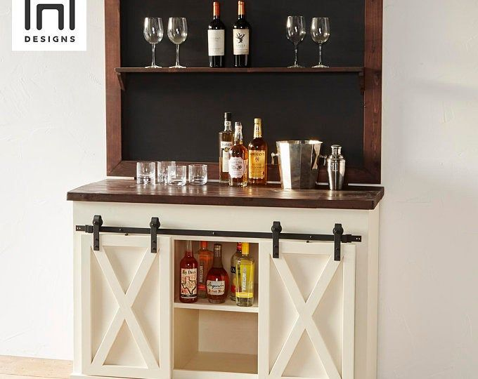 18+ Farmhouse style liquor cabinet ideas