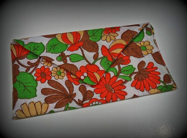 DIY stoffen envelop retro bloemenprintje