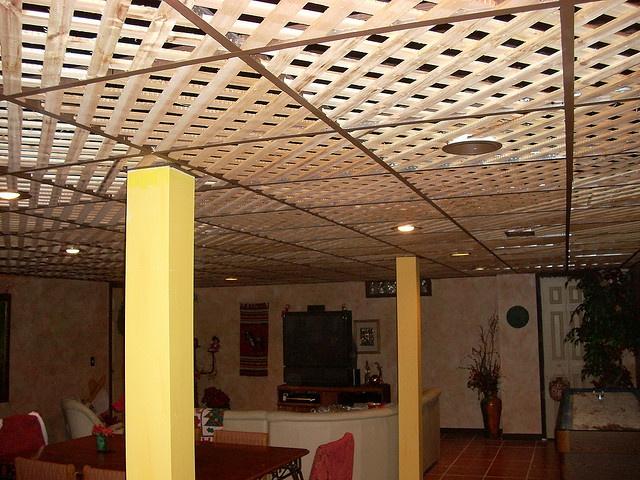 Best Of Lattice Basement Ceiling