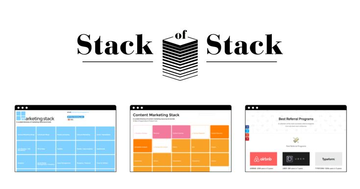 Stack of Stack: More than 70 stashes and lists with the best ressources for startups, designers, developers and makers.
