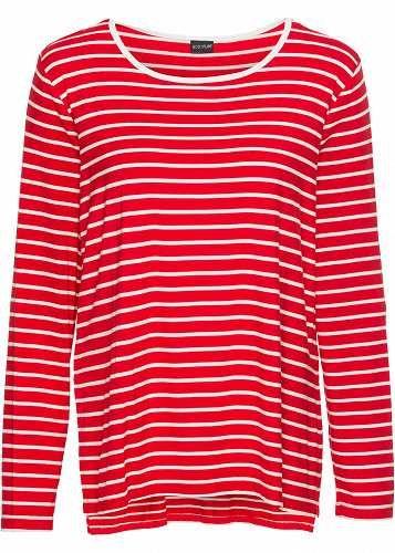 Prezzi e Sconti: #Bodyflirt damen maglia a righe in rosso:  ad Euro 9.99 in #Maglia a righe rosso bodyflirt #Donna > abbigliamento > maglie