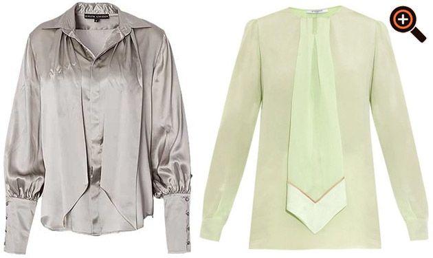 Blusenshirt & Designer Bluse aus Chiffon & Satin - schwarz, weiß, rot, gelb, grün