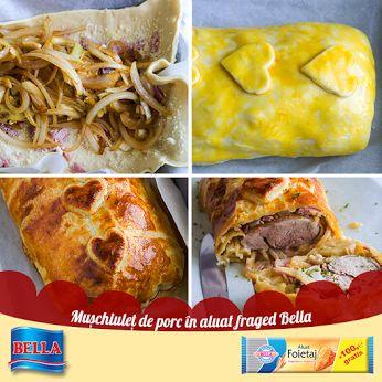 Muschiulet de porc in aluat foitaj Bella  Gasiti reteta aici: http://lumeaplacintelor.bellafood.ro/2015/05/muschiulet-de-porc-in-aluat-bella/