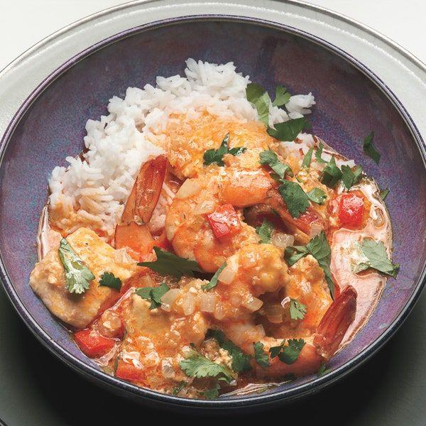 Thai Shrimp Halibut Curry Recipe In 2020 Halibut Recipes Asian Recipes Recipes