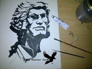 Hero -Original acrylic paint about General Moragues.