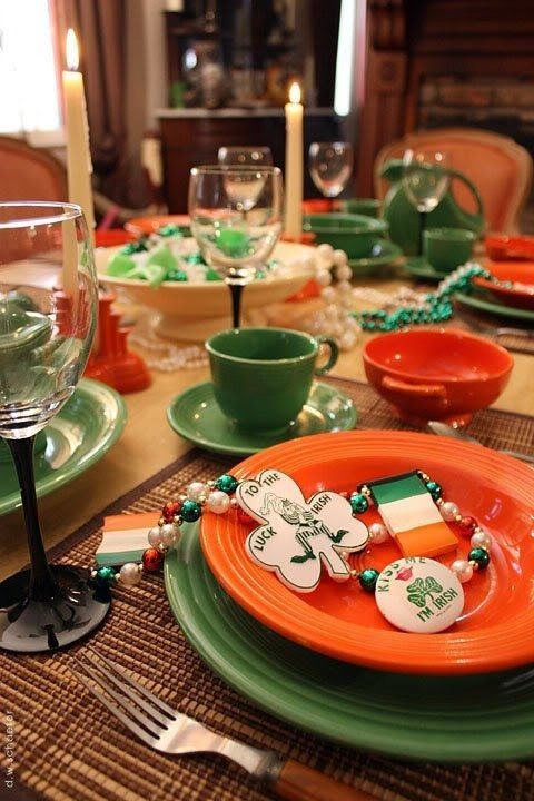 113 best tablescapes st patrick 39 s day images on for Italian kitchen fenton street