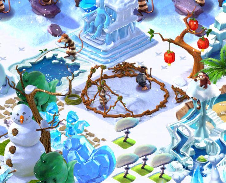 Ice Age Village... Gimnasio de la selva 3