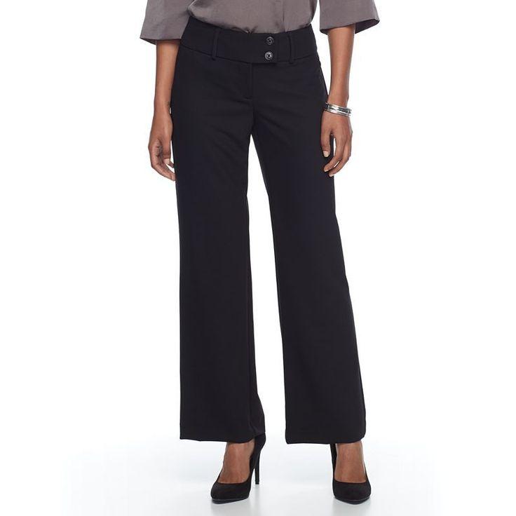 Petite Apt. 9® Curvy Dress Pants, Women's, Size: 6P - Short, Black