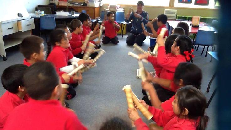 Class 18 at Pt England School practising the Ti Rakau Sticks! on Vimeo