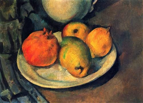 Still Life with Pomegranate and Pears - Paul Cezanne