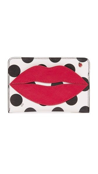 CHARLOTTE OLYMPIA Pouty Passport Holder. #charlotteolympia #bags #leather #accessories #cardholder #metallic #