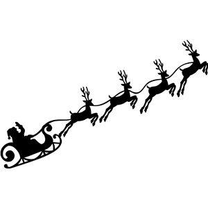 Silhouette Design Store - View Design #35886: christmas santa reindeer sleigh