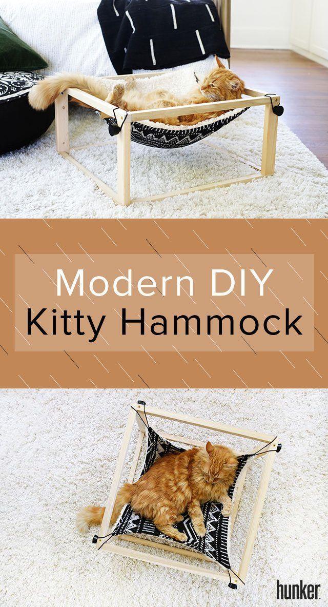 Ihre Katze wird diese moderne DIY-Hängematte lieben