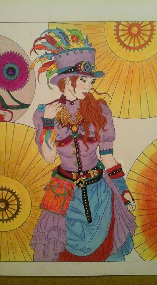 48 best Coloring Steampunk Fashion images on Pinterest Steampunk