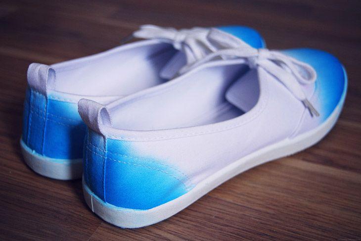Rotkehlchen: DIY: Dip Dye Shoes