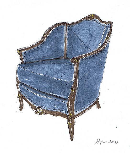 Blue French Chair/by Michelle Morelan Design on Flickr