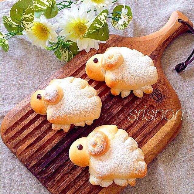 Sheep chocolate custard bread