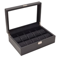 Caddy Bay Collection Carbon Fiber Pattern Watch Storage Box