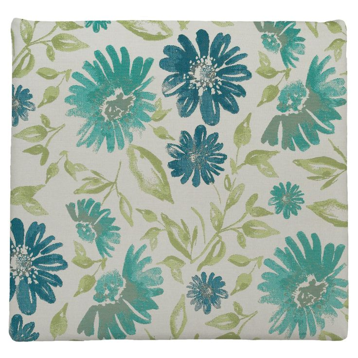 Easy Way Violetta Baltic Floral Print Knife Edge Sunbrella Outdoor Chair Pad - 11004H-F4576