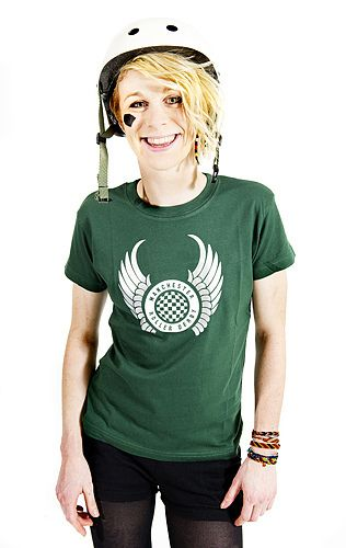 Tori Bee in a green tshirt. £10. Photo by Shirlaine Forrest