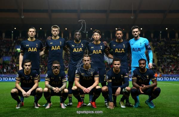 MONACO - NOVEMBER 22: Tottenham Hotspur team pose for a photo during the UEFA Champions League Group E match between AS Monaco FC and Tottenham Hotspur FC at Louis II Stadium on November 22, 2016 in Monaco. (Photo by Michael Steele/Getty Images)