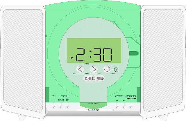 Photo By Clker-Free-Vector-Images   Pixabay   #radio #player #clock #electronicmusic #dancing