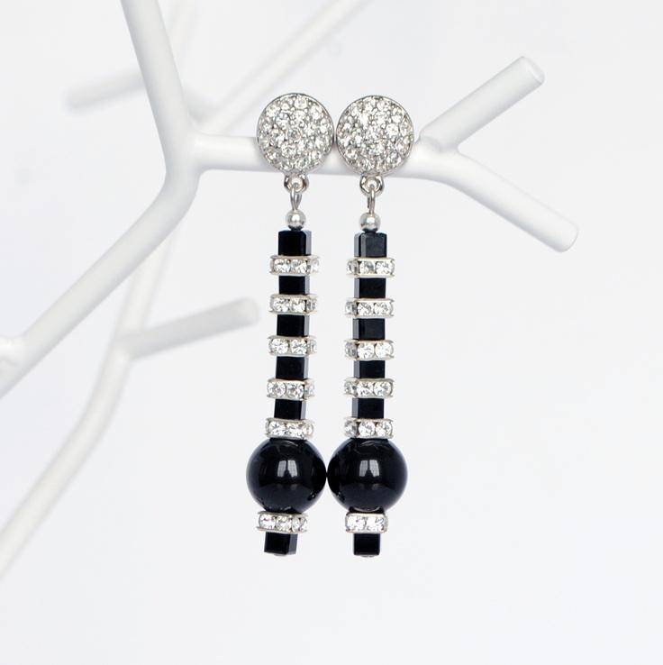 Black pearl earrings - timeless piece $75  www.GemBoutique.ca  http://www.etsy.com/shop/GemBoutiqueOnline