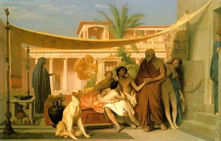 Ο Σωκράτης ψάχνει για τον Αλκιβιάδη στο σπίτι της Ασπασίας