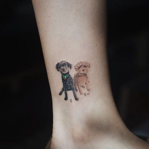 Poodle Tattoo Design by Sol Art